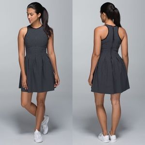 Lululemon Here To There Dress Biggy Dot Printed Black Ghost / Black